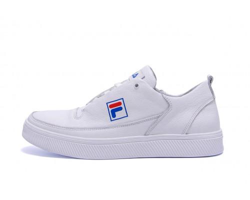Мужские кожаные кеды FILA White Leather