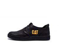 Мужские кожаные кроссовки CATkm