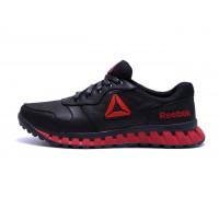 Мужские кожаные кроссовки  Reebok Classic Black and Red