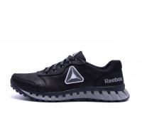 Мужские кожаные кроссовки Reebok Classic Black and Grey