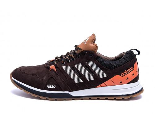 Мужские кожаные кроссовки Adidas A19 Brown Star