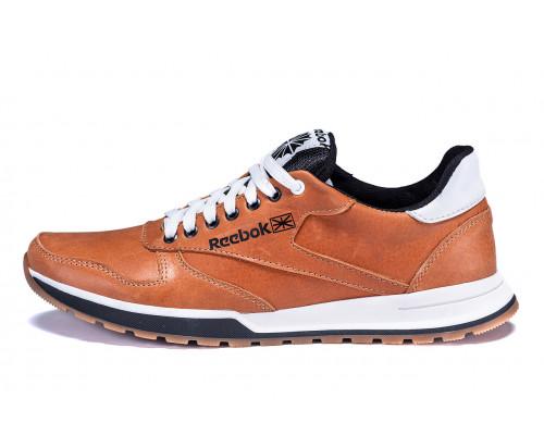 Мужские кожаные кроссовки Reebok Classic brown