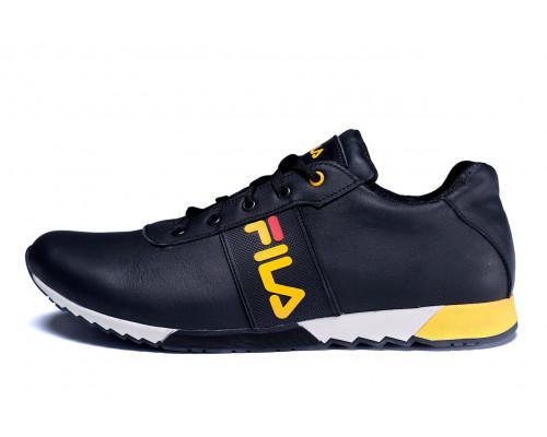 Мужские кожаные кроссовки FILA MindZero Black