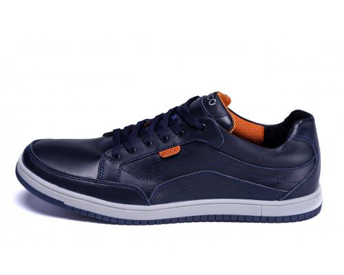 Мужские кожаные кроссовки Ecco Wayfly Blue