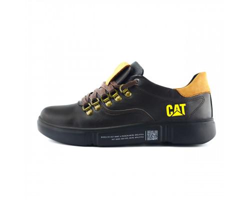 Мужские кожаные кроссовки CAT Chocolate Trend