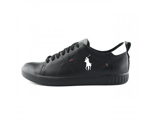 Мужские кожаные кроссовки Polo Clasic Black