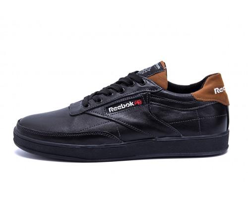 Мужские кожаные кроссовки Reebok Black line