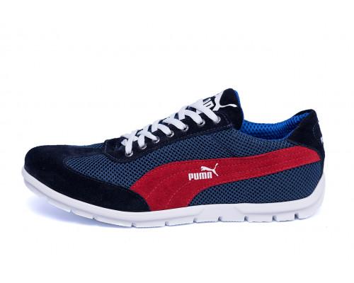 Мужские летние кроссовки сетка Puma Black