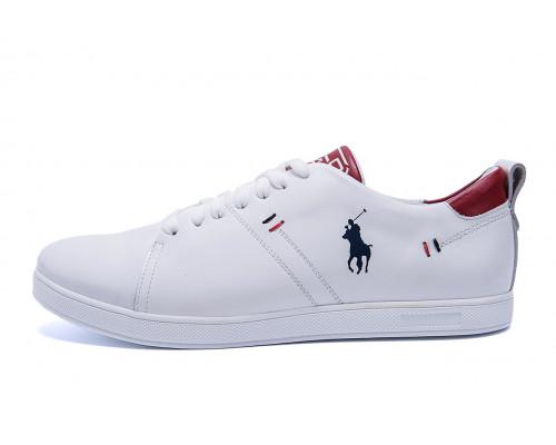 Мужские кожаные кроссовки Polo Clasic White