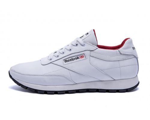 Мужские кожаные кроссовки Reebok White line