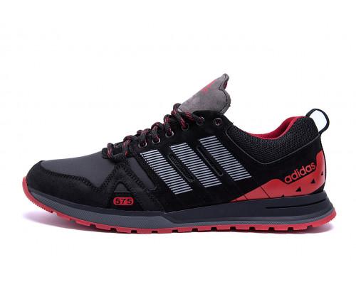 Мужские кожаные кроссовки Adidas A19 Red Star