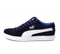 Мужские Кожаные Кеды Puma SUEDE Blue
