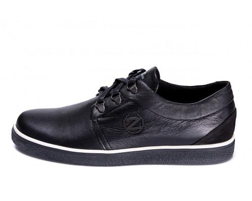 Мужские кожаные кеды ZG New Line Black