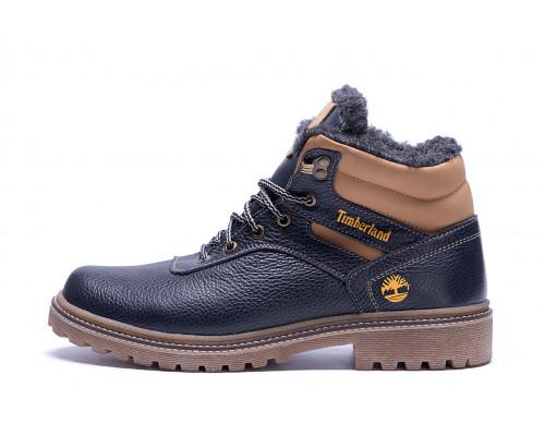 Мужские зимние кожаные ботинки Timberland Legend Blue