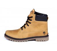 Мужские зимние кожаные ботинки Timberland Crazy Shoes Limone