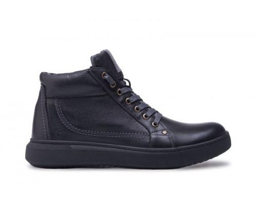 Ботинки мужские зимние кожаные Bastion 18082ч