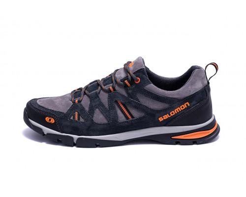 Мужские кожаные кроссовки Salomon Grey Tracking
