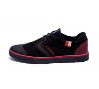 Мужские кожаные кроссовки Hilfiger Black And Red