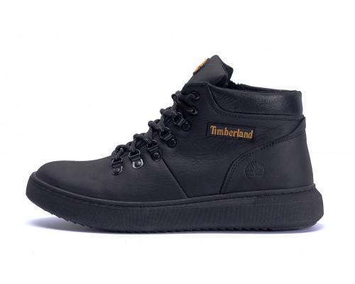Мужские зимние кожаные ботинки Timberlend Black Style