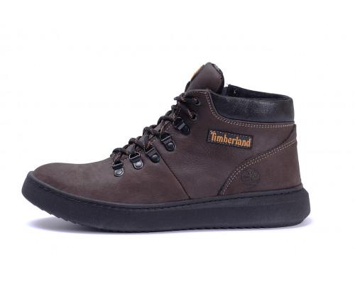 Мужские зимние кожаные ботинки Zaragoza Brown