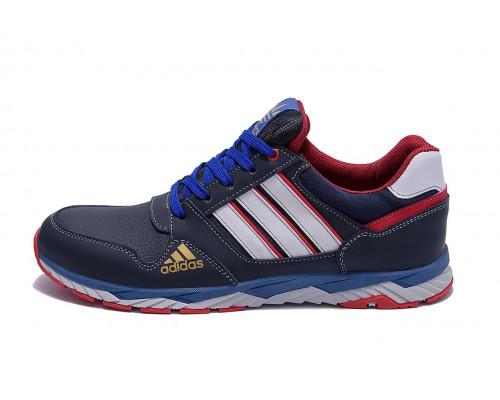 Мужские кожаные кроссовки Adidas Tech Flex Blue