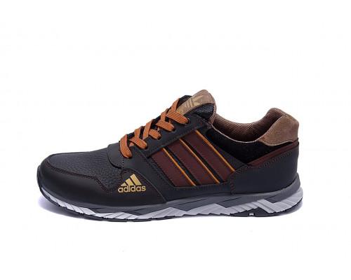 Мужские кожаные кроссовки Adidas Tech Flex Brown