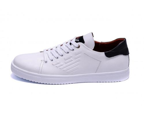 Мужские кожаные кеды Armani A4 white