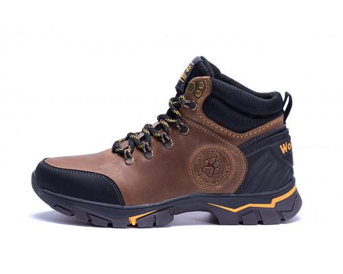 Мужские зимние кожаные ботинки Jack Wolfskin Outdoor Olive