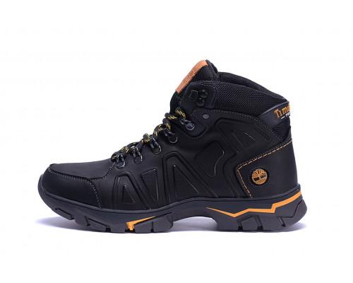 Мужские зимние кожаные ботинки Black