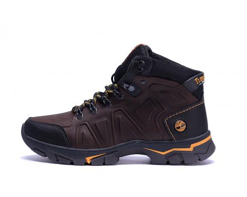 Мужские зимние кожаные ботинки Chocolate