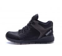 Мужские зимние кожаные ботинки CATERPILLAR Black
