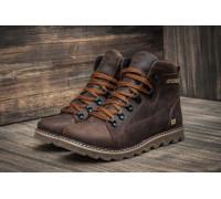 Мужские зимние кожаные ботинки CAT Expensive Chocolate