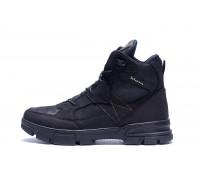Мужские зимние кожаные ботинки Ecco biom e20 черные