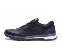 Мужские кожаные кроссовки Ecco Classic black