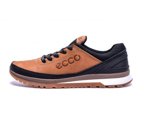 Мужские кожаные кроссовки Ecco Classic brown
