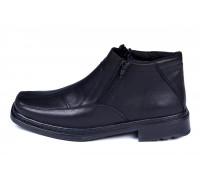 Мужские кожаные зимние ботинки Leon Квадро