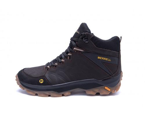 Мужские зимние кожаные ботинки Merrell Chocolate
