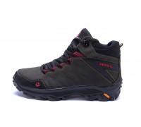 Мужские зимние кожаные ботинки Merrell Olive