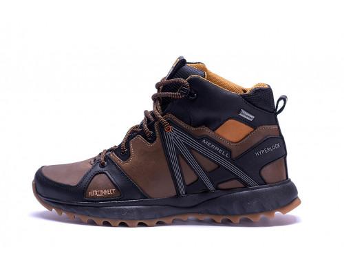 Мужские зимние кожаные ботинки Merrell Hyperlock Olive