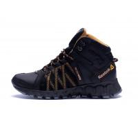Мужские зимние кожаные ботинки Reebok Microweb Black