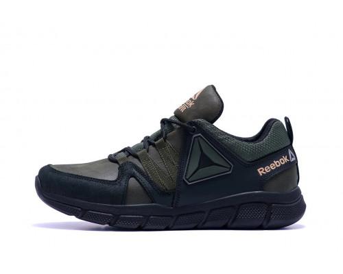 Мужские кожаные кроссовки Reebok Classic Green R2 хаки
