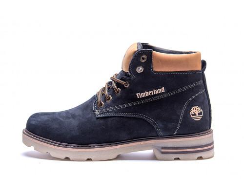 Мужские зимние кожаные ботинки Timberland Blue Shoes