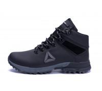 Мужские зимние кожаные ботинки Reebok Black