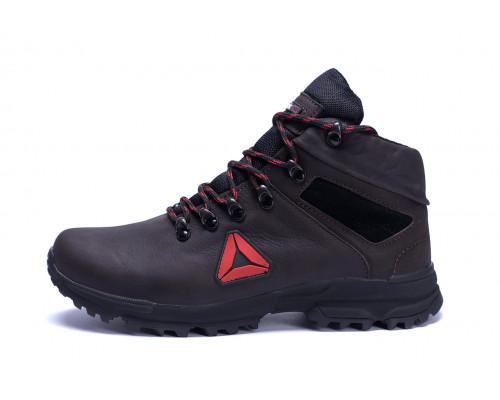 Мужские зимние кожаные ботинки Reebok Brown