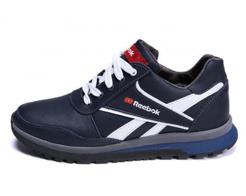 Мужские зимние кожаные кроссовки Anser Reebok Blue