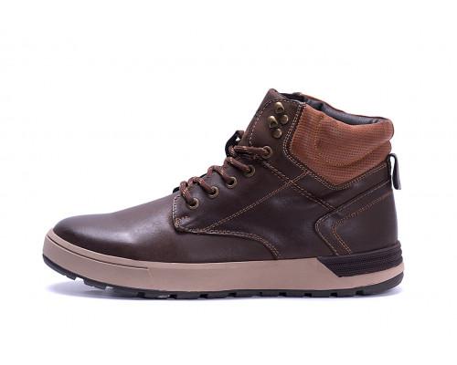 Мужские зимние кожаные ботинки Yalasou Coffee