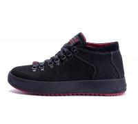Мужские зимние кожаные ботинки ZG Black Exclusive