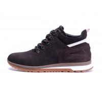 Мужские зимние кожаные ботинки ZG Chocolate Crossfit
