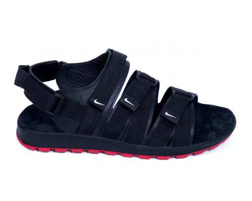 Мужские кожаные сандалии Nike Summer life black