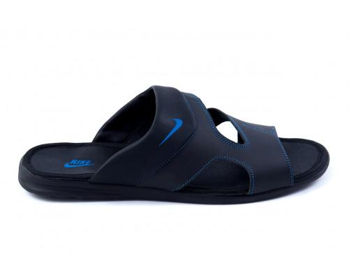 Мужские кожаные летние шлепанцы-сланцы Nike Classic